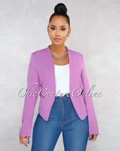 030b3b5c70c0 Chic Couture Online - Margaret Purple Blazer Casual Work Outfits, Blazer  Outfits, Professional Outfits