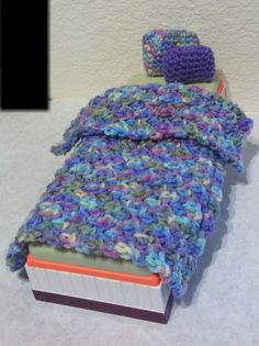 Fashion Doll Blanket and Pillow Set Spring Colors by CraftsByCali, $8.00