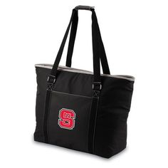 c499ceea1e04 North Carolina State University Wolfpack Tahoe Cooler Tote - Black Picnic  Cooler