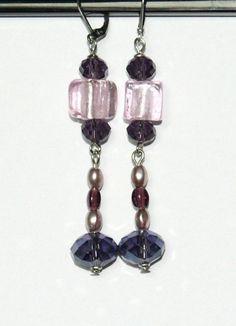 https://www.etsy.com/fr/listing/251557373/boucles-doreilles-perles-en-verre-et #EtsyGifts #EtsySuccess #faitmain #bijouxfantaisie