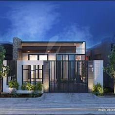 BIỆT THỰ NHÀ VƯỜN HÀ ĐÔNG: Nhà by ITALIC DECOR Street House, Coastal Homes, Home Fashion, My Dream, House Plans, Exterior, House Design, Mansions, Interior Design
