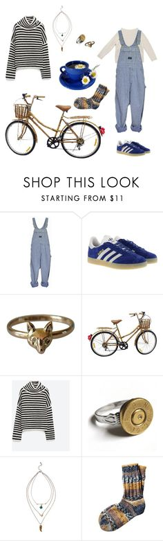 """""""Camomile tea"""" by sunflower-fairy ❤ liked on Polyvore featuring adidas Originals, Zara and Toast"""