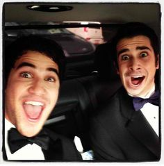 Darren with his 'date' and best friend Joey Richter