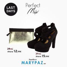 ¡ Total look by MARYPAZ! >> Combina tu zapato con el bolso perfecto ❤️❤️ ►►► LAST DAYS FROM 5,99 € Aprovéchate de los ÚLTIMOS DÍAS de MARYPAZ desde 5,99 € en muchos de nuestros artículos en TIENDA y ONLINE www.marypaz.com