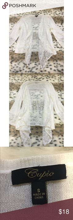 Cupio Lace Quarter-Length Sweater Perfect condition! Never worn. Size small. Cupio Sweaters Cardigans