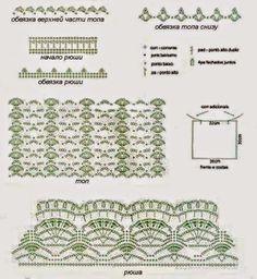 Crochê Decora &Veste: Um blog com tutoriais e inspirações de crochê para decorar e vestir. Blusa com gráfico #2 - Modelo Cigana. Várias inspirações e ideias, baixadas da internet, pra você fazer a sua Blusa Cigana.