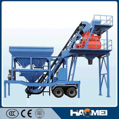 Factory price YHZS35 mobile mixing concrete plant for sale The batching unit, aggregate conveying unit, water supplying and additive agent supplying  system, scaling system, mixing system, electrical control system and pneumatic system are centralized in one trailer zed chassis. http://batchingplantng.com/mobile-batching-plant/yhzs35-mobile-batching-plant-sale.html