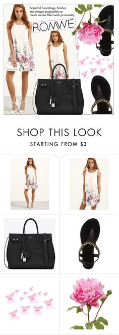 """""""ROMWE"""" by amilasahbazovic ❤ liked on Polyvore featuring Yves Saint Laurent and Charlotte Russe"""