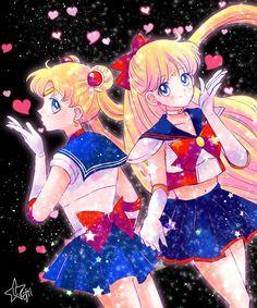 Sailor Moon y Sailor V 💖🌙