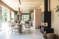 Today I'm taking you to southern Sweden for a look around a stunning new-build house where architecture and interior design work in perfect harmony. Interior Design Work, Scandinavian Interior Design, Scandinavian Home, Nordic Design, Wooden Cladding, Wooden Panelling, Wooden Walls, Cabin Style Homes, Sweden House