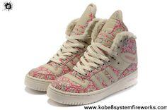 Wholesale Cheap Girl Adidas M Attitude Big Tongue Monogram Shoes Pink