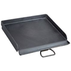 Camp Chef Heavy Duty Steel Deluxe Griddle with Built-in Grease Drain, Black