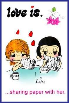 sharing paper with her