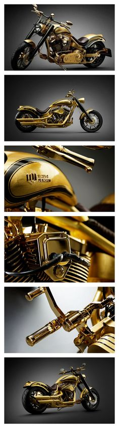 Lauge Jensen Goldfinger - gold and diamonds making it one of the most expensive motorcycles in the world. Click find out how much.