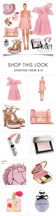 """""""Prom Night"""" by bysc ❤ liked on Polyvore featuring self-portrait, Gucci, Ciaté, Burberry, Urban Decay, Dolce&Gabbana, Victoria's Secret and Kate Spade"""