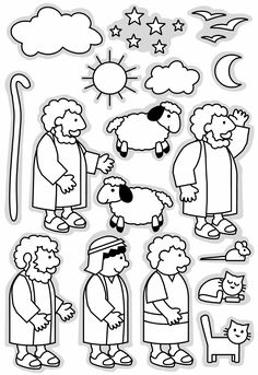 Parable of the Lost Sheep The Good Shepherd printable clip art