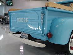 1962 DODGE D-100 PICK-UP ORIGINAL CALIFORNIA TRUCK! BEAUTIFUL RESTORATION! EXTREMELY RARE, VERY LOW PRODUCTION! READY TO SHOW OR DRIVE! TRULY A COLLECTOR'S DREAM! 1962 DODGE D-100 PICK-UP Finished in classic Horizon Blue with beautiful matching...