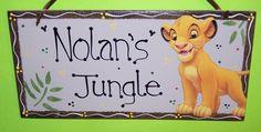 lion king nursery | Lion King Simba Baby Kids Personalized Sign Room Nursery Crib Bedding ...