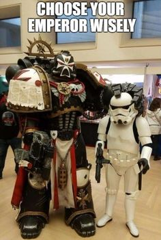 Post with 122 votes and 4209 views. Tagged with star wars, cosplay, meme, warhammer Shared by JonathanMayor. Warhammer 40000, Warhammer 40k Memes, Warhammer Art, Warhammer Fantasy, Warhammer Emperor, Total Warhammer, Warhammer Armies, Black Templars, Video Game Memes