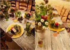 An apple themed wedding inspiration shoot
