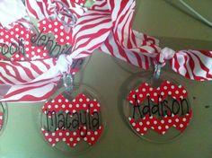 Bag tags for cheer