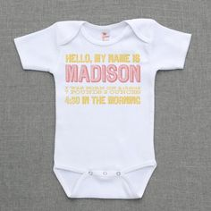 hello, my name is  .. baby birth announcement $16