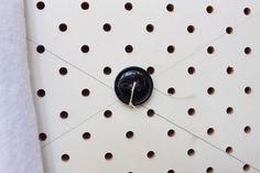 DIY Diamond Tufted Headboard using Pegboard | RedAgape