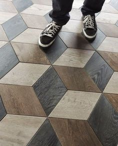 Parquetry flooring i have always loved but this is one of the best designs I have ever seen. ZEP 13 Parquet Flooring By Tabarka Studio Parquet Flooring, Grey Flooring, Wooden Flooring, Kitchen Flooring, Flooring Ideas, Wood Parquet, Parquet Tiles, Vinyl Flooring, Terrazzo