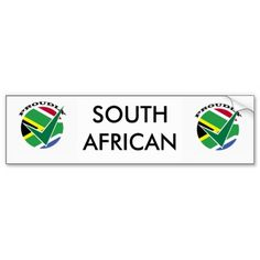 Shop Proudly South African Bumper Sticker created by laureenr.
