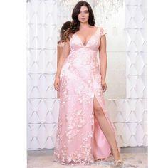 Plus size fashion tips, curvy girl fashion, plus size outfits, plus prom . Plus Prom Dresses, Plus Size Dresses, Plus Size Outfits, Evening Dresses, Formal Dresses, Xv Dresses, Pink Plus Size Clothing, Godmother Dress, Big Size Dress