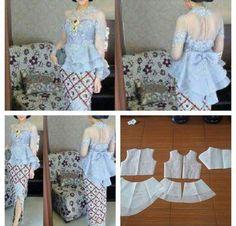 51 Ideas for sewing patterns tops link Kebaya Peplum, Batik Kebaya, Batik Dress, Dress Sewing Patterns, Blouse Patterns, Clothing Patterns, Fashion Sewing, Diy Fashion, Ideias Fashion