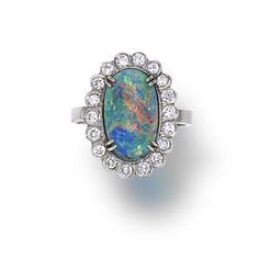 An opal and diamond ring  l Bonhams Auction # 20978 in New York on the 19th of  June 2013, starting at 11:00 EDT. Click for more info.