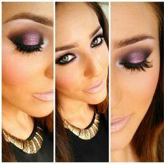 Smoky purple eyeshadow.