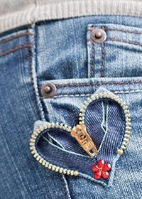 New Sewing Jeans Hole 62 Ideas Diy Jeans, Sewing Jeans, Recycle Jeans, Upcycle, Jeans Refashion, Jean Crafts, Denim Crafts, Zipper Crafts, Zipper Jewelry