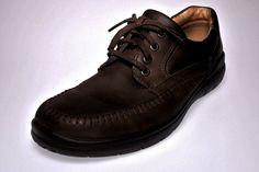 ECCO SeaWalker Men's Size 9.5 EUR 42 Casual Shoes Dark Brown Leather Apron Toe…
