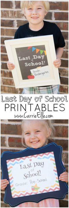 Last Day of School Printables