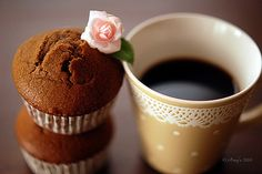 cute lace and polka dot mug