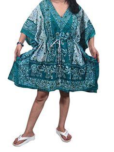 Short Kaftan Women Evening Wear Tunic Blue Printed Caftan Boho Tops One Size Mogul Interior http://www.amazon.com/dp/B0136MWXZS/ref=cm_sw_r_pi_dp_Ew0Wvb122DX7H