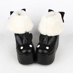 Kawaii Rabbit Ear Lolita Short Boots SP164970