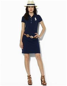 124a7088e31 ralph lauren outlet online - Polo Ralph Lauren femme   pois Robe en coton  dans la Marine
