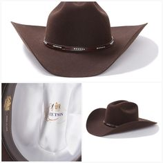 f2c92a4e081 Stetson LLANO 4X Wool Cowboy Hat Chocolate with Pinch Front Crown Item  SWLLNO-7239