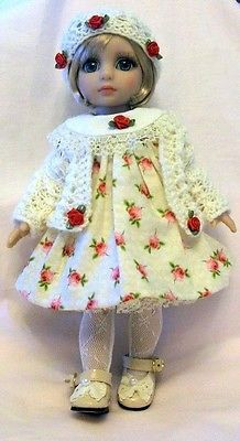 "Patsy Tonner Doll "" Winter Rose Buds"" Outfit OOAK 