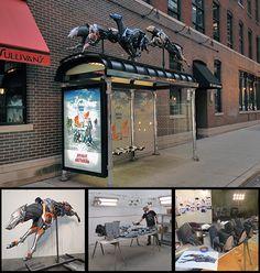 Absolut Greyhound Collage