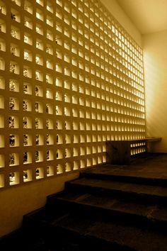 Luis Barragan, Chapel of the Capuchines, breezeblocks.