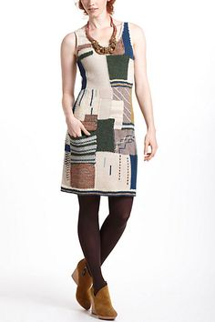 Patchwork Variations Sweater Dress #anthropologie
