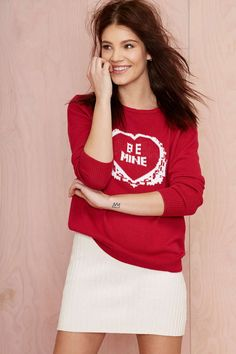 KNITZ Be Mine Knit Sweater//