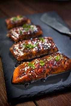 "Łosoś teriyaki - probably the best ""łosoś"" in the world - Chic & Tasty The Best, Chili, Pork, Tasty, Meat, Kale Stir Fry, Chile, Chilis, Pork Chops"