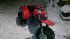 1985 Honda Big Red 250es... My new ice transportation