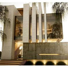 Valle imperial House in Jalisco, Mexico by Creato Arquitectos Facade Architecture, Beautiful Architecture, Residential Architecture, Contemporary Architecture, Contemporary Stairs, Contemporary Design, Contemporary Apartment, Organic Architecture, Business Architecture