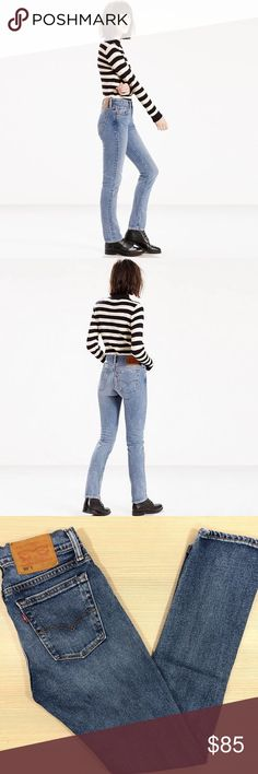 Levi's 505C Straight Leg Jeans Atomic Blue -True to size -Slim through the hip and thigh -Straight though the leg Levi's Jeans